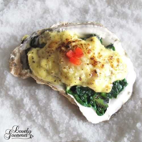 receta de ostras al gratén