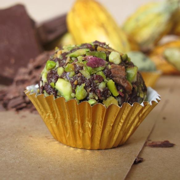 trufas de chocolate y pistachos- lovely gourmet