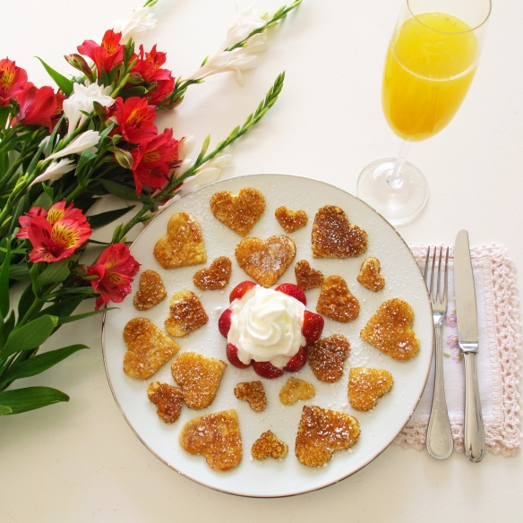 valentine's day pancakes, lovely gourmet, heart shapped