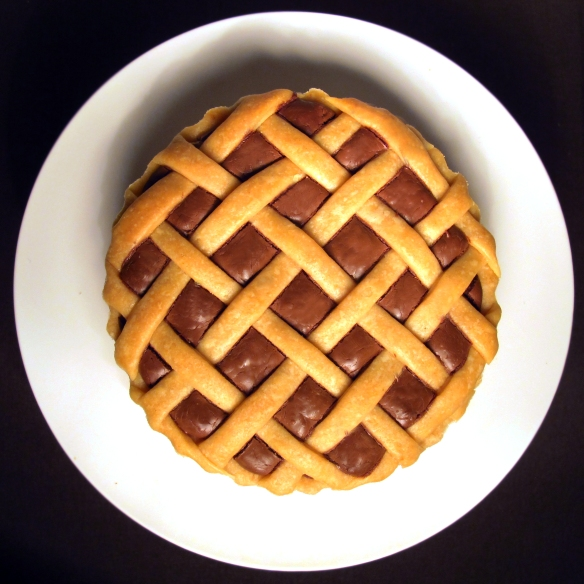 nutella pie, lovely gourmet, pie de nutella